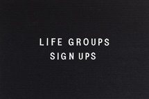 life groups sign ups