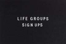 life groups sign ups