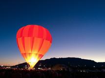 Hot Air Balloon lifting into the air