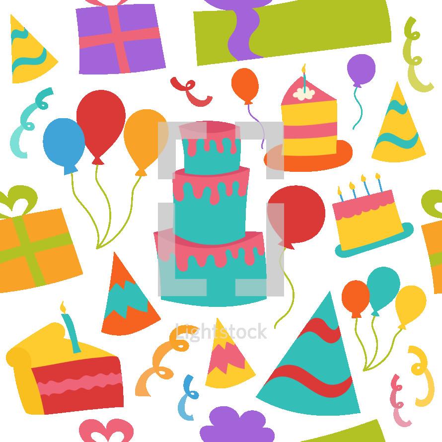 birthday pattern background