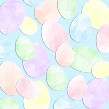 watercolor Easter egg cutouts