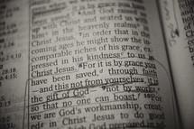 grace  - Bible verse