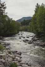 a rocky mountain stream