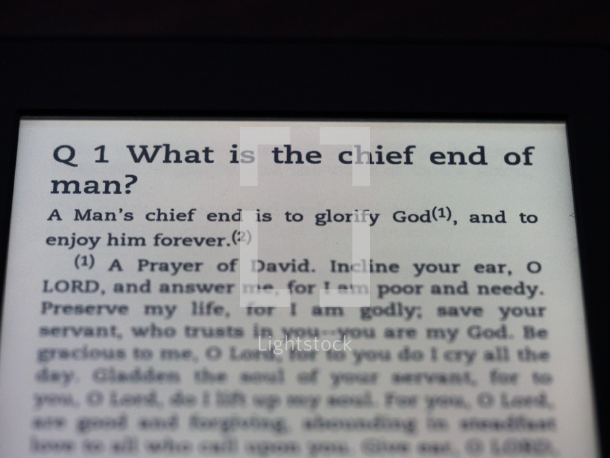 Chief end of man