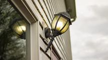 broken outdoor lamp