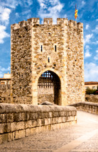gate and tower on a fortress