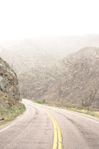 A mountain highway.
