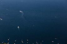 boats on water along an Italian coastline
