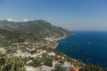houses on a mountainous coastline in Italy