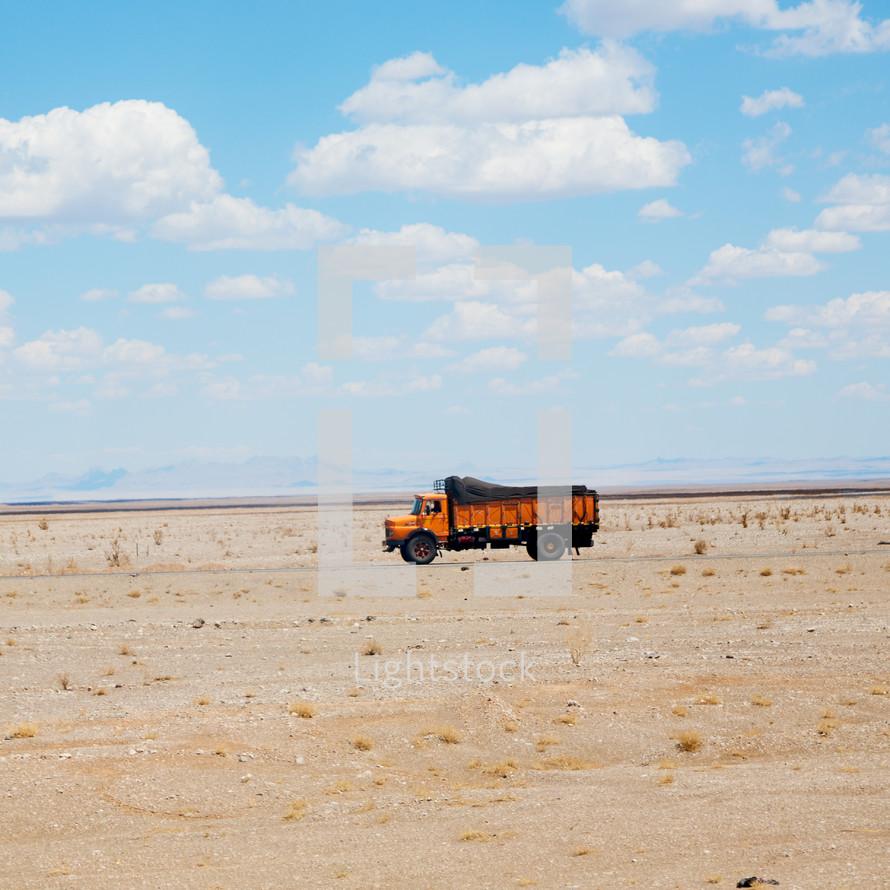 truck in the desert