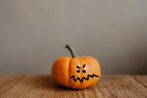 an exasperated little pumpkin