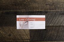love offering envelope
