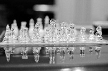 clear chess pieces