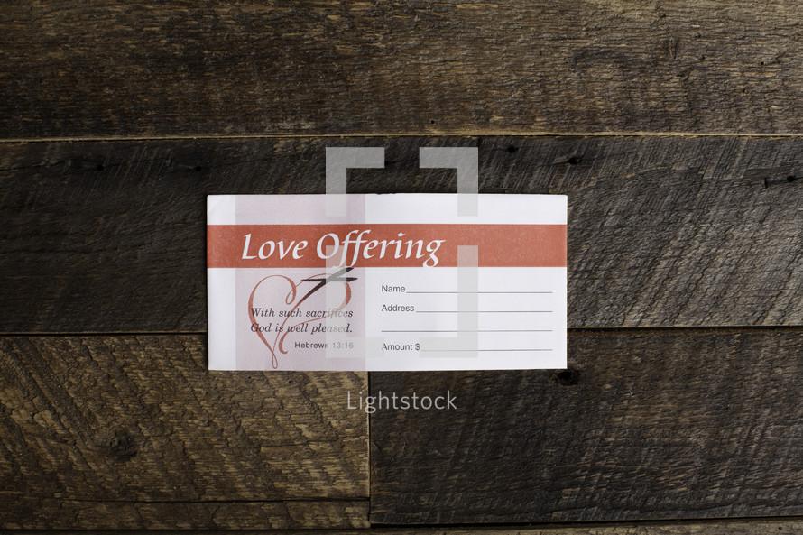 love offering envelope