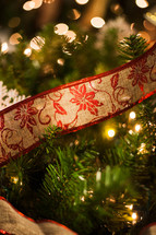 ribbon on a Christmas tree
