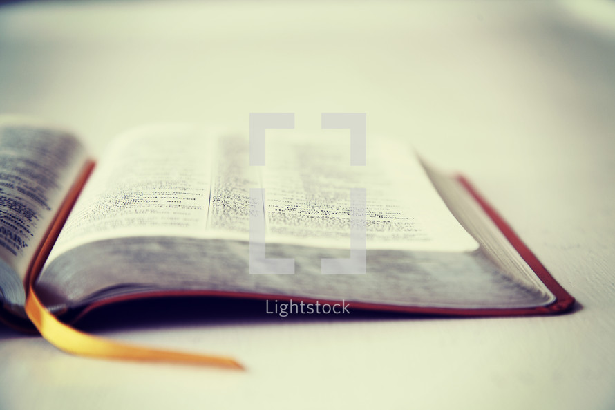 bookmark and open Bible
