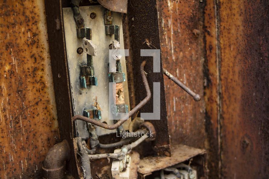 rusty electrical box