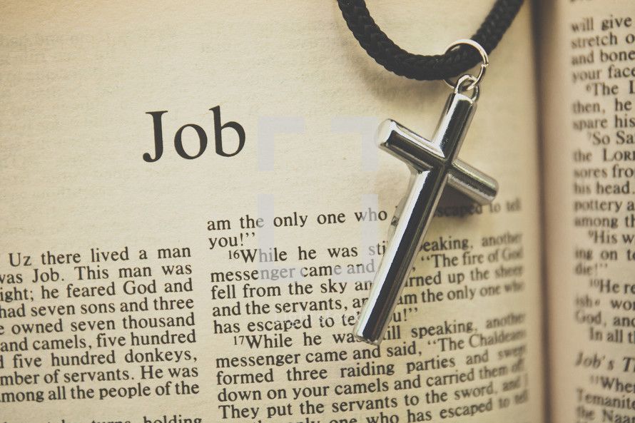 Job and a cross necklace