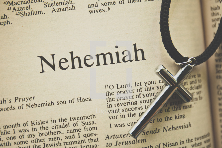 Nehemiah and a cross necklace