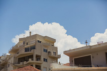 balconies on apartments in Greece