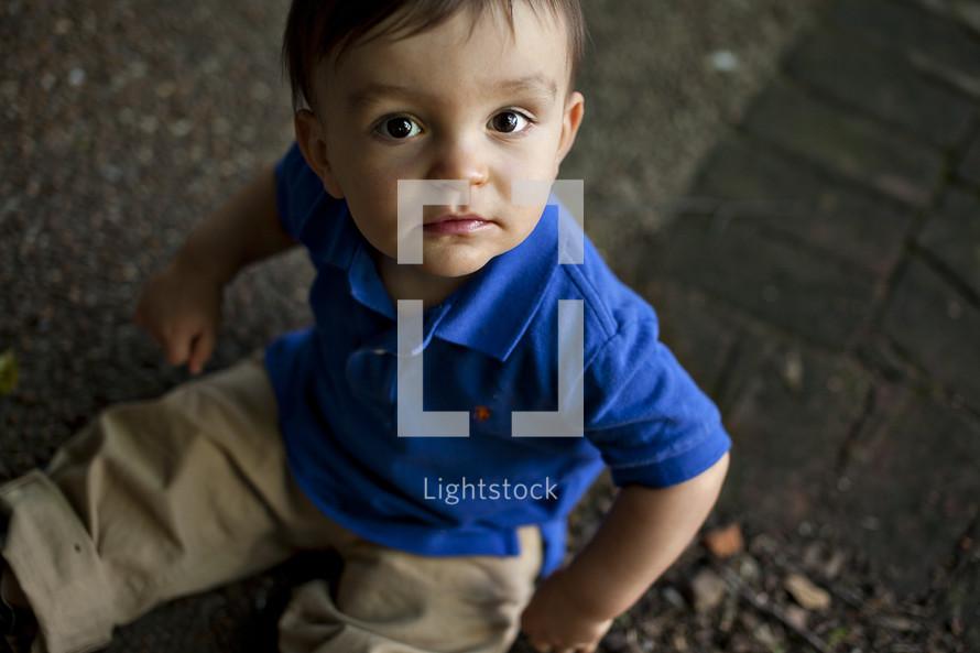 toddler boy sitting