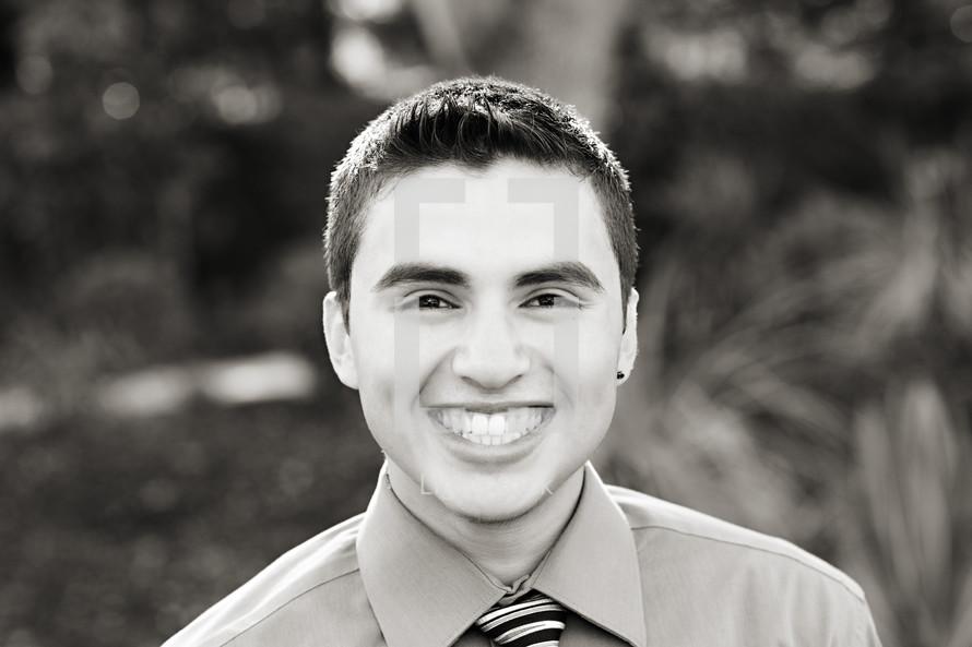 A smiling man Latino Hispanic