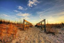 public access onto a beach