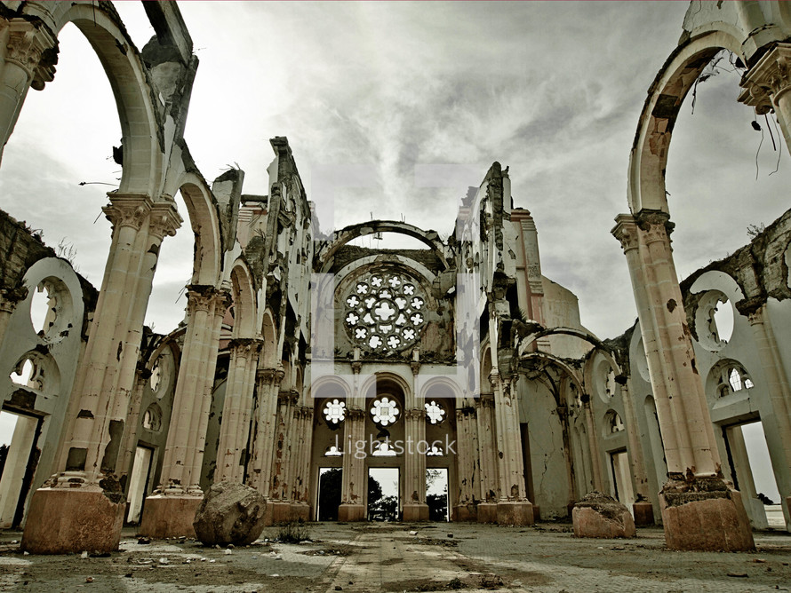 a church in ruins