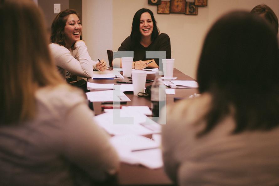 Women's Bible study group.