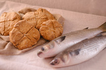 bread and fish.