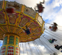 swing chair ride at an amusement park
