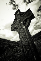 Celtic cross tomb stone