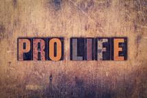 words pro life