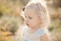 blonde haired toddler girl