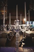 Formal candelabra centerpiece