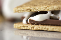 A cooked s'more.