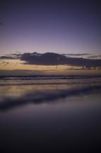 wet sand on a beach