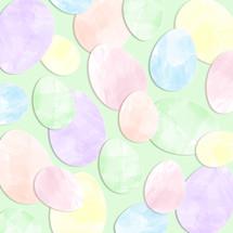 watercolor Easter egg cutouts