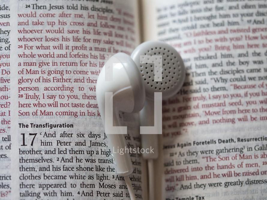 transfiguration and ear buds