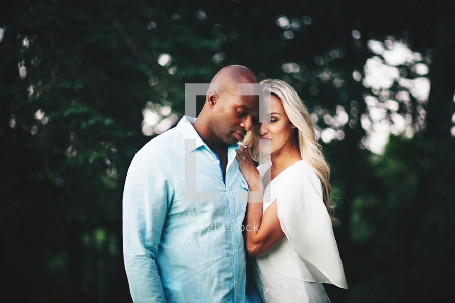 engagement portrait of a happy couple