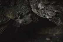 rock wall in a cave