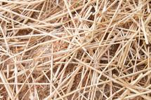 straw on the ground
