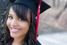 Smiling gradute.