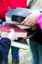 stacking Bibles