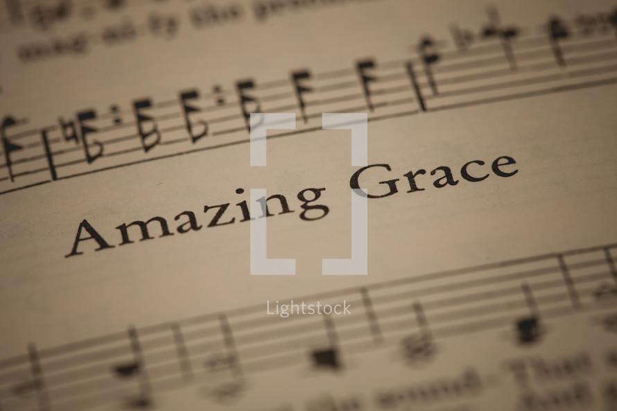 Amazing Grace sheet music