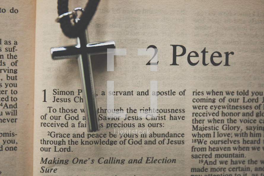 2 Peter and a cross necklace