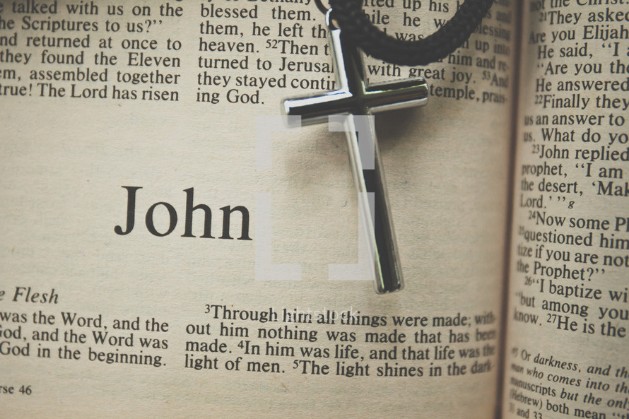 John and cross necklace