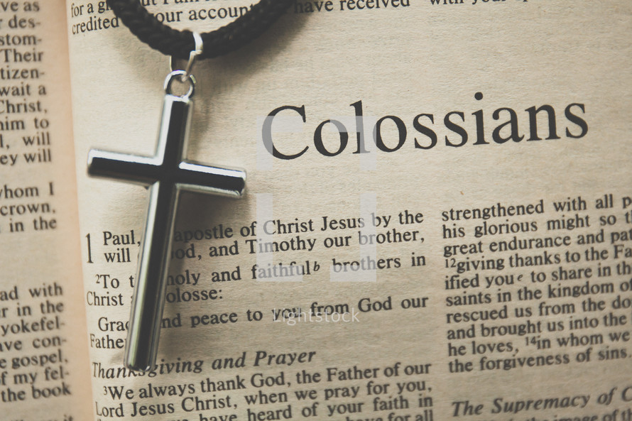 Colossians and a cross necklace