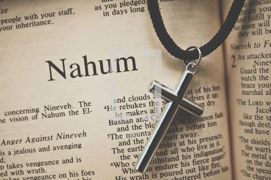 Nahum and a cross necklace