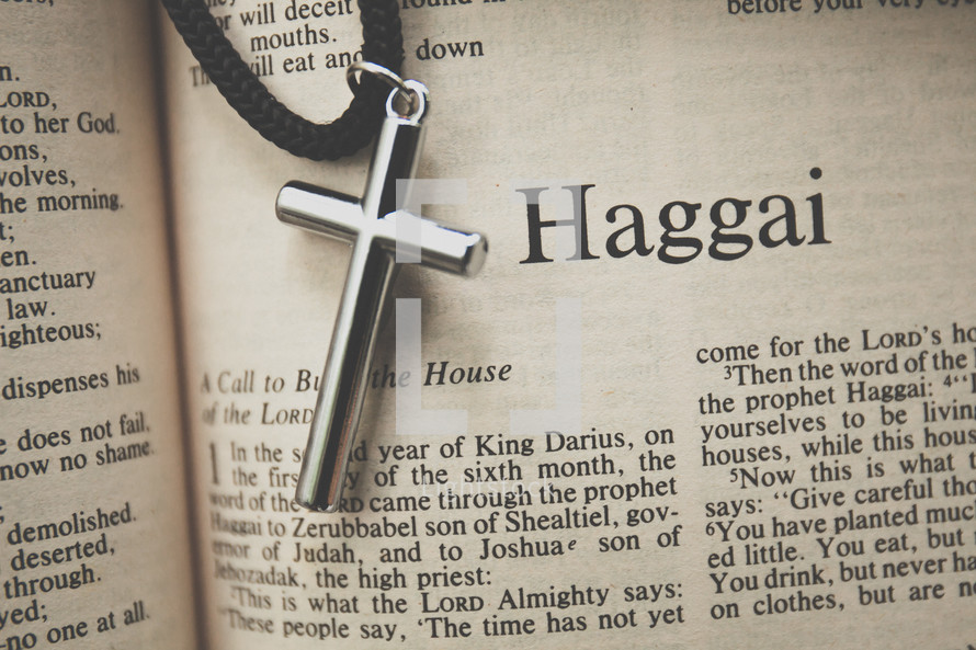 Haggai and a cross necklace